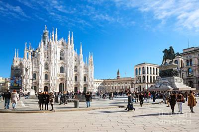 Piazza Del Duomo - Milan - Italy Art Print