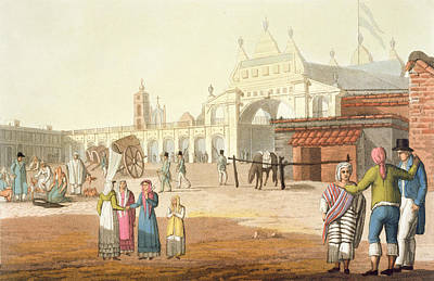 Latin Drawing - Piazza Del Mercato, Buenos Aires by Paolo Fumagalli