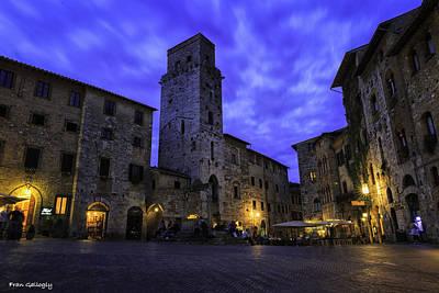 Photograph - Piazza Della Cisterna At Night by Fran Gallogly