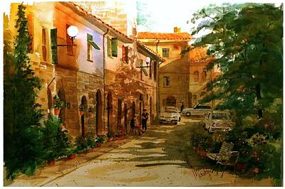 Painting - Piazza Della Giada by Gerald Miraldi