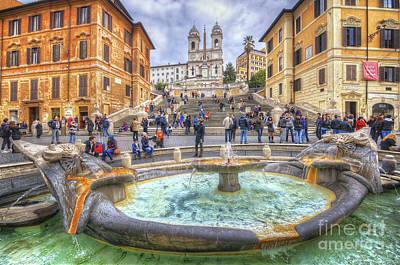 Photograph - Piazza Di Spagna  by Yhun Suarez