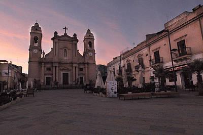 Sicily Digital Art - Piazza Duomo Terrasini by William Fields