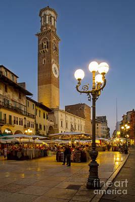 Piazza Erbe - Verona Art Print by Brian Jannsen