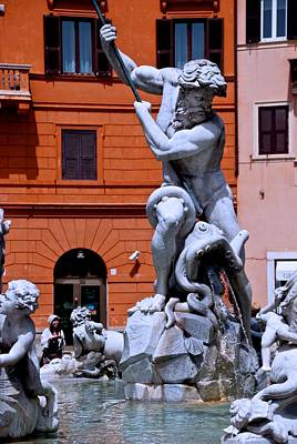 Photograph - Piazza Navona And Bernini by Eric Tressler