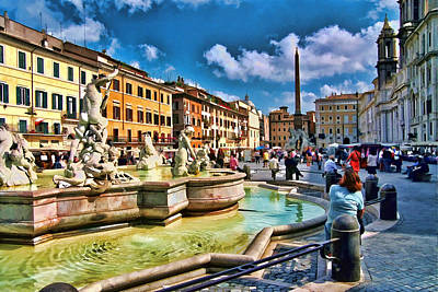 Photograph - Piazza Navona - Rome by Allen Beatty