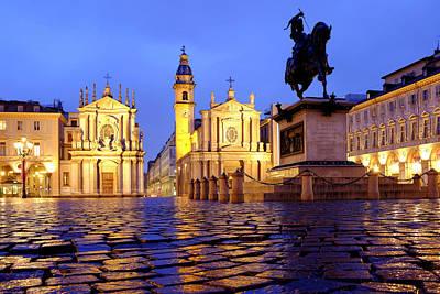 Photograph - Piazza San Carlo by Fabrizio Troiani