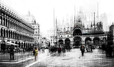 Venice Photograph - Piazza San Marco by Carmine Chiriac?