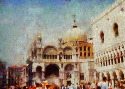 St. Marks Basilica Photograph - Piazza San Marco by Dan Sproul