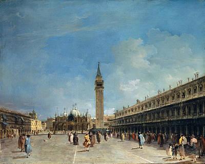 Francesco Guardi Painting - Piazza San Marco by Francesco Guardi