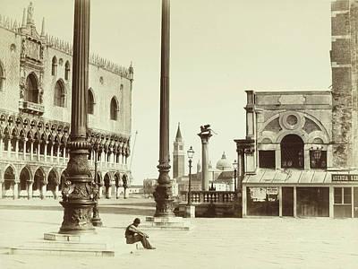 Piazza San Marco Italy, Attributed To Carlo Naya Art Print
