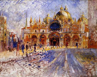Piazza San Marco Art Print by Pierre Auguste  Renoir