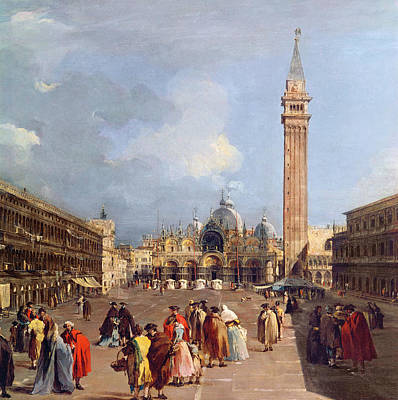 Scenes Of Italy Painting - Piazza San Marco, Venice by Francesco Guardi