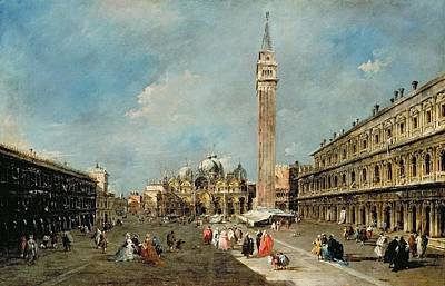 Tourist Attraction Painting - Piazza San Marco, Venice by Francesco Guardi