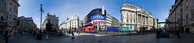 Traffic Light Digital Art - Picadilly Circus by Georgia Fowler