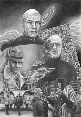 Picard Black And White Art Print