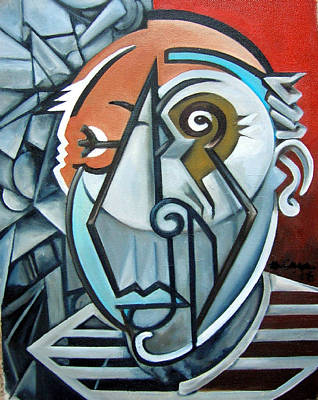 Wall Art - Painting - Picasso Bust by Martel Chapman