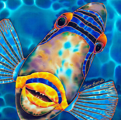 Triggerfish Painting - Picasso Triggerfish by Daniel Jean-Baptiste