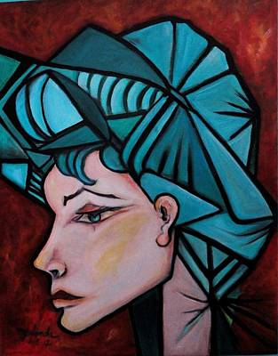 Art Print featuring the painting Picassogirl by Yolanda Rodriguez