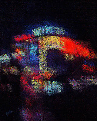 Digital Art - Piccadilly Circus Lights 1965 by Nop Briex