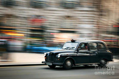 Piccadilly Taxi Art Print