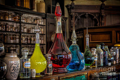 Medicine Bottles Photograph - Pick An Elixir by Adrian Evans