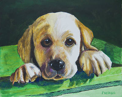 Dogs Painting - Pick Me by Roger Wedegis