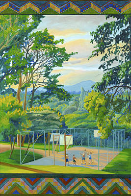 Painting - Pick Up Game In The Summer by Lynn Hansen