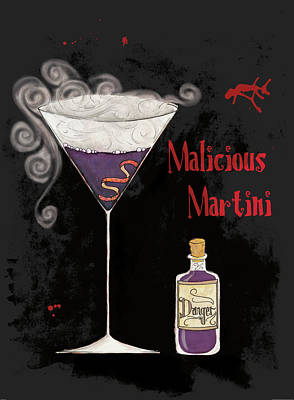 Martini Painting - Pick Your Poison I by Elyse Deneige