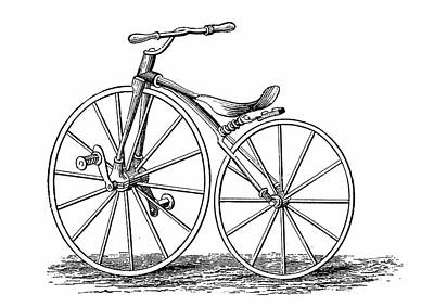 Crank Photograph - Pickering's Crank-pedal Driven Bicycle by Universal History Archive/uig