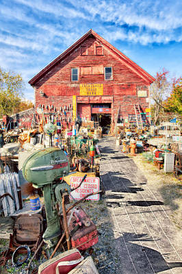 Maine Roads Digital Art - Picker's Paradise by Gregory W Leary