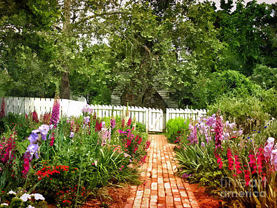 Painting - Picket Fence Garden by Shari Nees