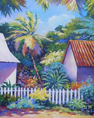 Trinidad House Painting - Picket Fence by John Clark