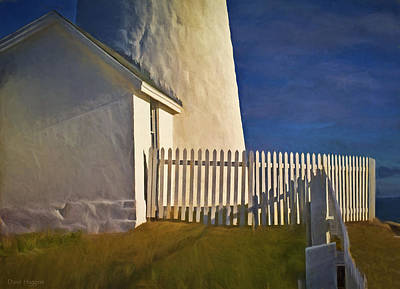 Digital Art - Picket Fence Pemaquid Lighthouse Maine by Dave Higgins