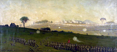 Picketts Charge On Union Center 3pm Art Print