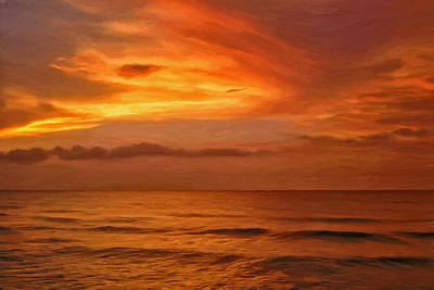 Waterscape Painting - Picketts Harbor Sunset by Michael Pickett