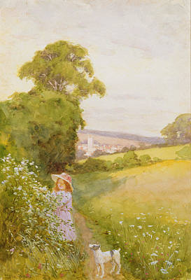 Summer Collection Painting - Picking Flowers  by Thomas Frederick Mason Sheard