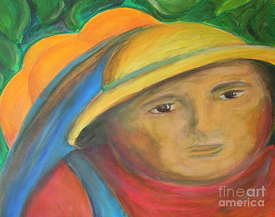 Picking Oranges Art Print by Teresa Hutto