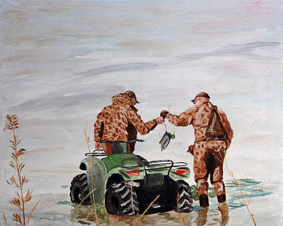 Painting - Picking Up The Decoys by Kevin Callahan
