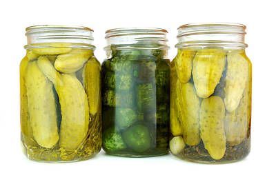 Deli Photograph - Pickle Jars by Jim Hughes