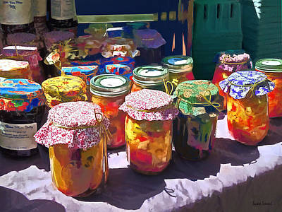 Pickle Photograph - Pickles And Jellies by Susan Savad