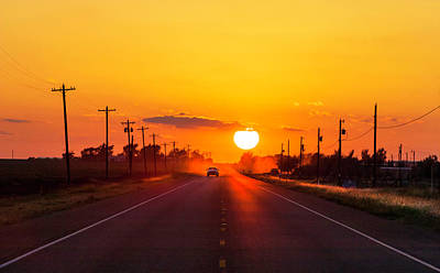 Sunset Photograph - Pickup Truck At Sunset On West Texas by Dszc