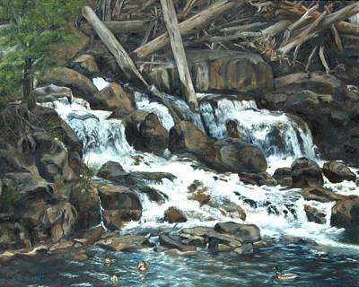 Painting - Picnic At The Falls by Lori Brackett