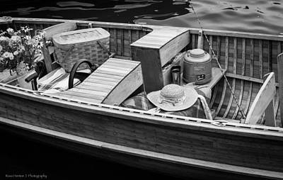 Art Print featuring the photograph Picnic Boat by Ross Henton