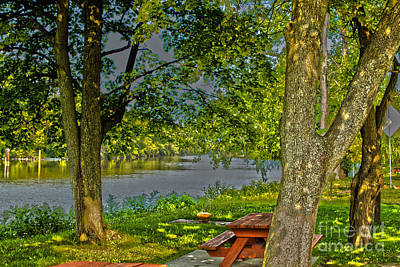 Photograph - Picnic By The Erie Canal by William Norton