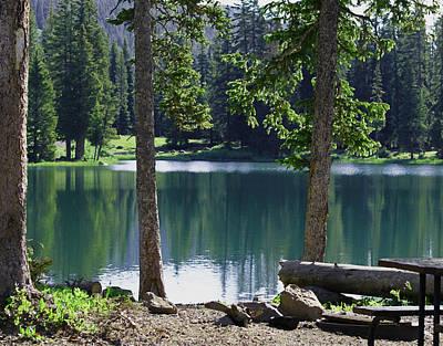 Mesa Digital Art - Picnic By The Lake by Ernie Echols