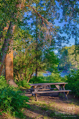 Digital Art - Picnic By The Methow River by Omaste Witkowski