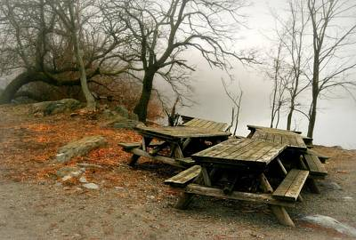 Park Benches Photograph - Picnic Fog by Diana Angstadt