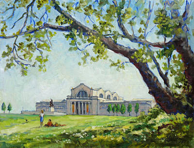 Saint Louis Painting - Picnic In Forest Park Saint Louis by Irek Szelag