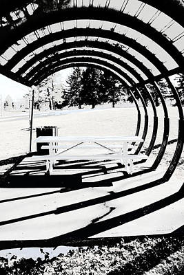Picnic Table And Gazebo Art Print