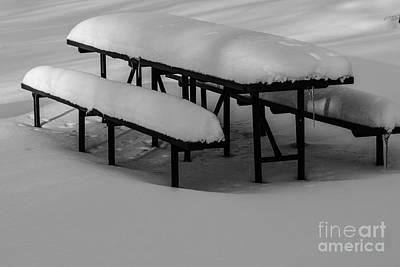 Photograph - Picnic Table by JT Lewis